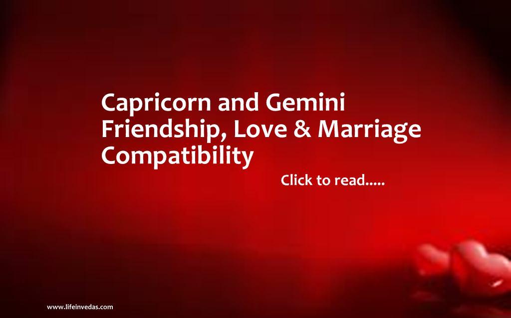 Gemini and Capricorn Compatibility for Friendship, Love