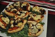 Portabella Mushroom and Feta Mini Pizza