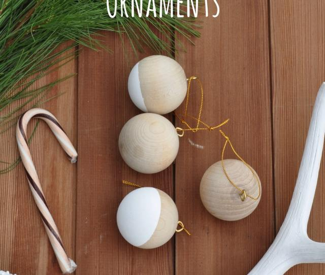 Wooden Ball Christmas Ornaments Simple Diy To Turn Craft Store Wooden Balls Into Christmas Tree