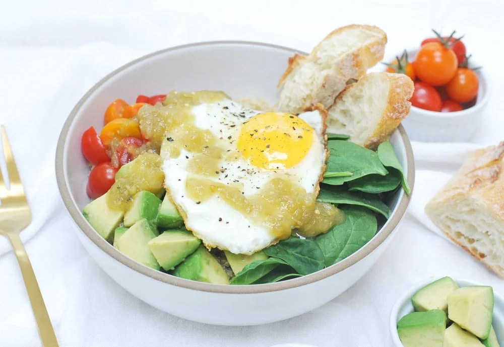Parmesan Quinoa Bowl with Fried Egg-4