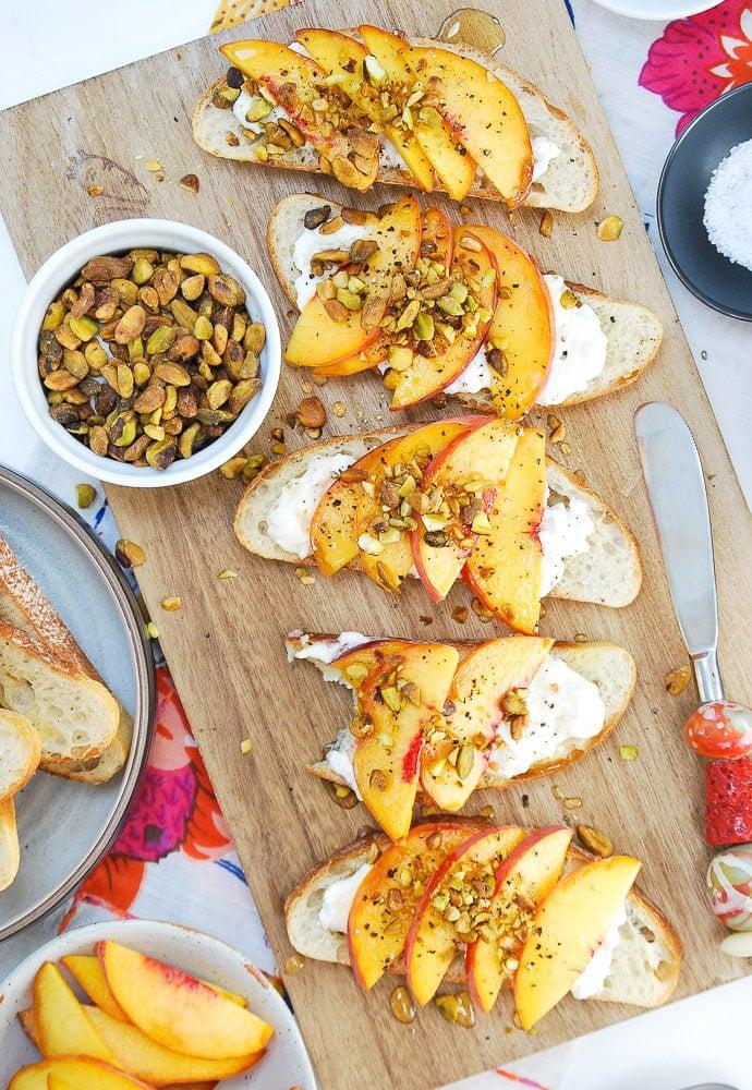Peach Burrata Crostini 1