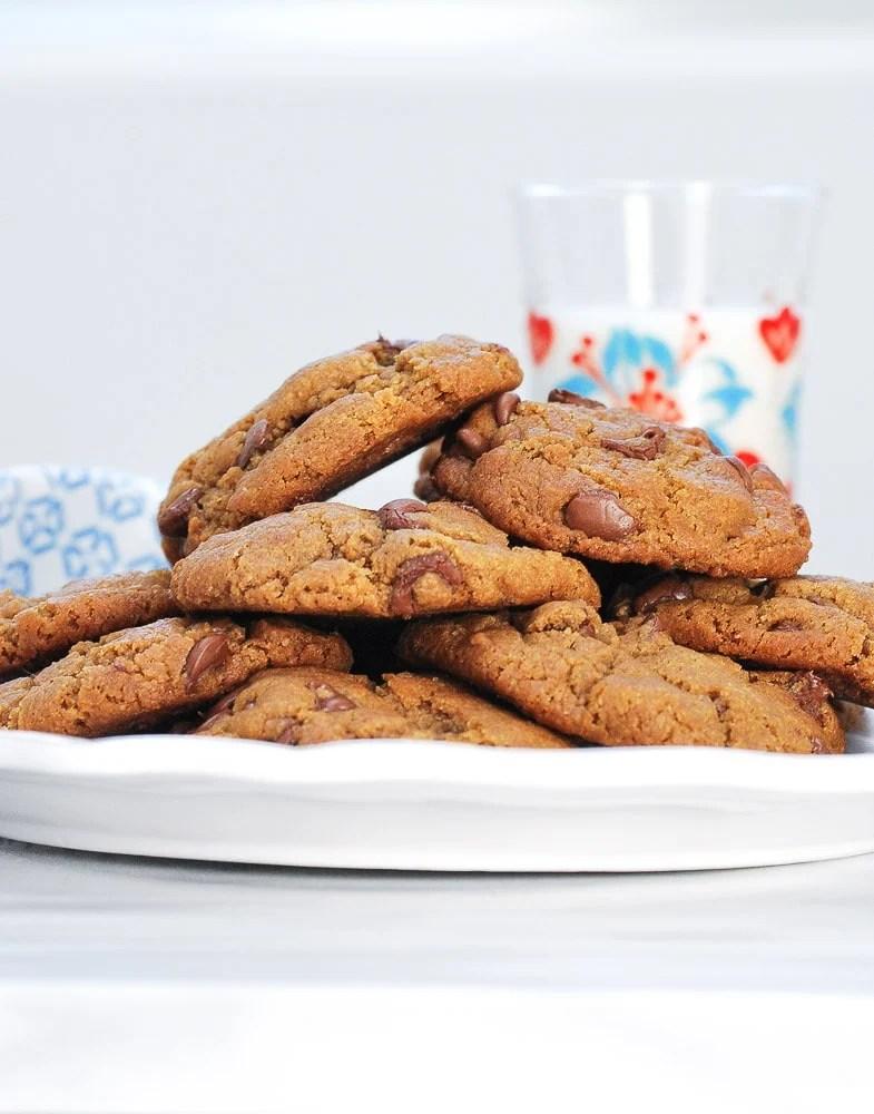 Gluten Free Peanut Butter Chocolate Chip Cookies-2