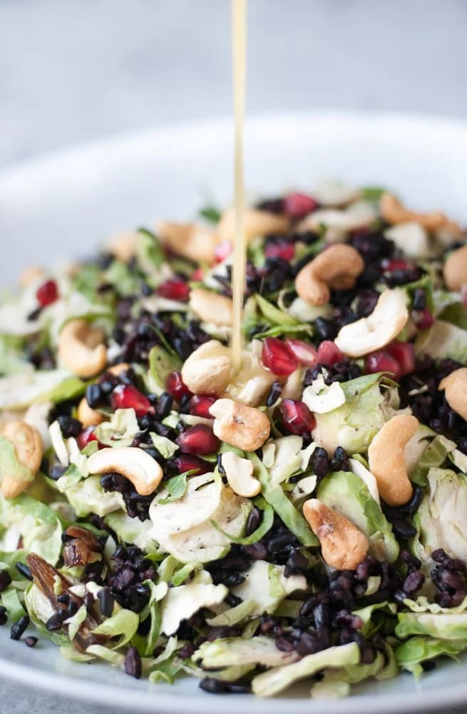 Shaved Brussels Sprouts Salad with Lemon Caper Dressing-3
