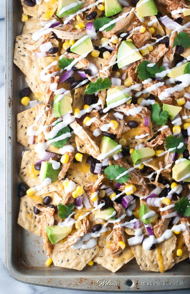 Slow Cooker Chicken Nachos-6