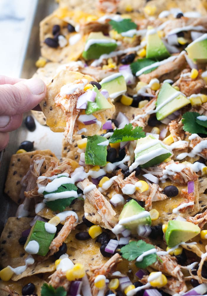 Slow Cooker Chicken Nachos-7
