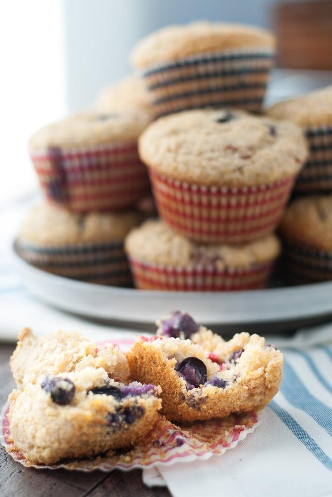 Whole Wheat Berry Corn Muffins-3