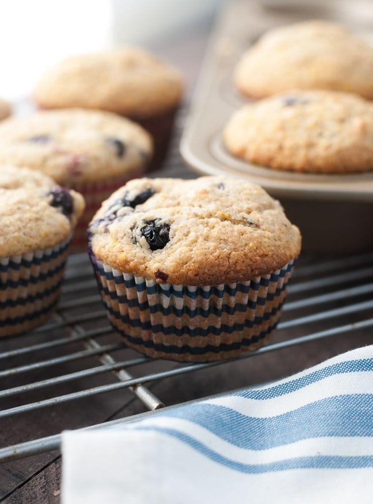 Whole Wheat Berry Corn Muffins-4