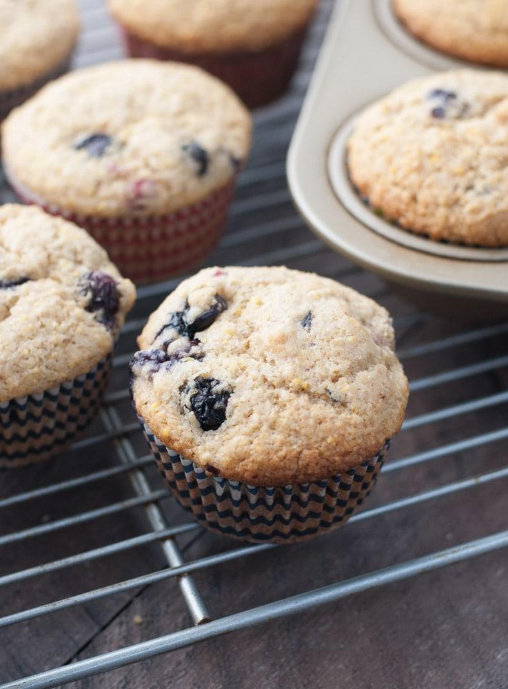 Whole Wheat Berry Corn Muffins-5