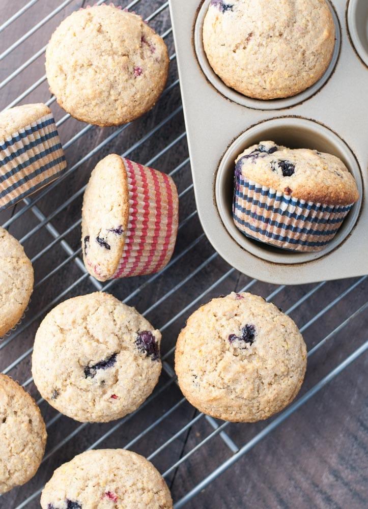 Whole Wheat Berry Corn Muffins-6