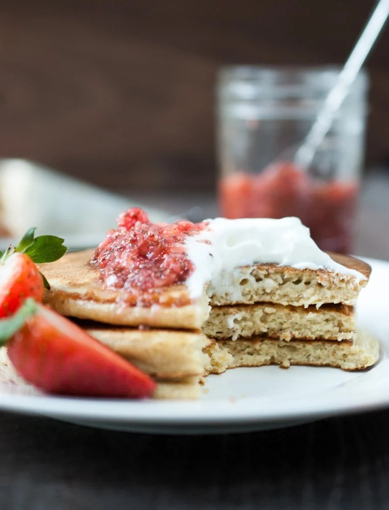 Oatmeal Cottage Cheese Pancakes-5