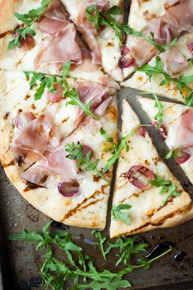 Mozzarella, Prosciutto, & Roasted Grape Pizza-5