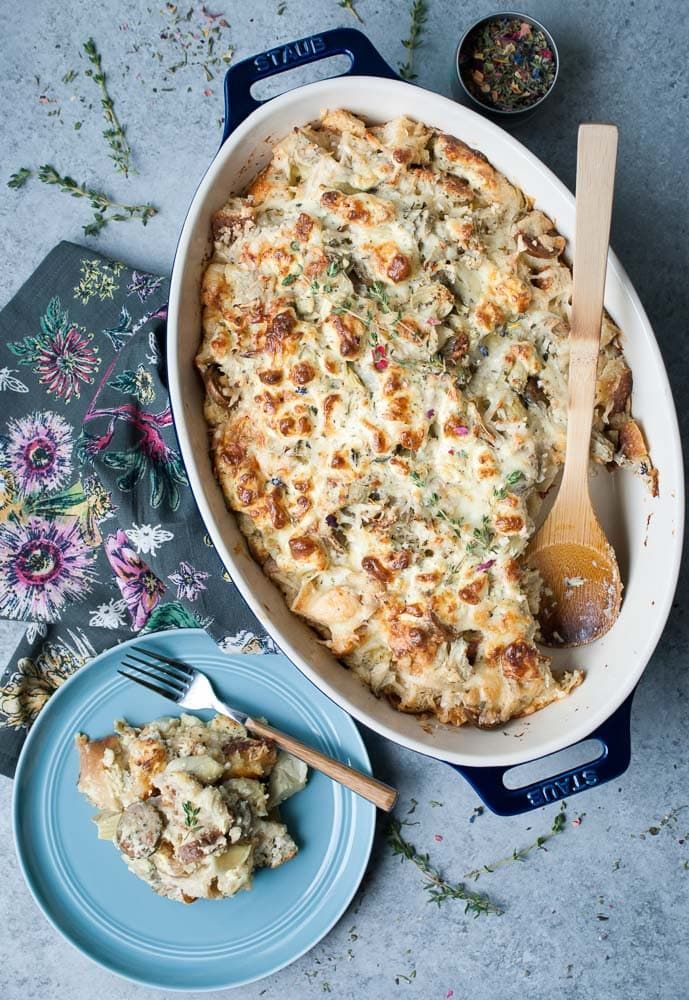 Artichoke & Goat Cheese Breakfast Bake-8
