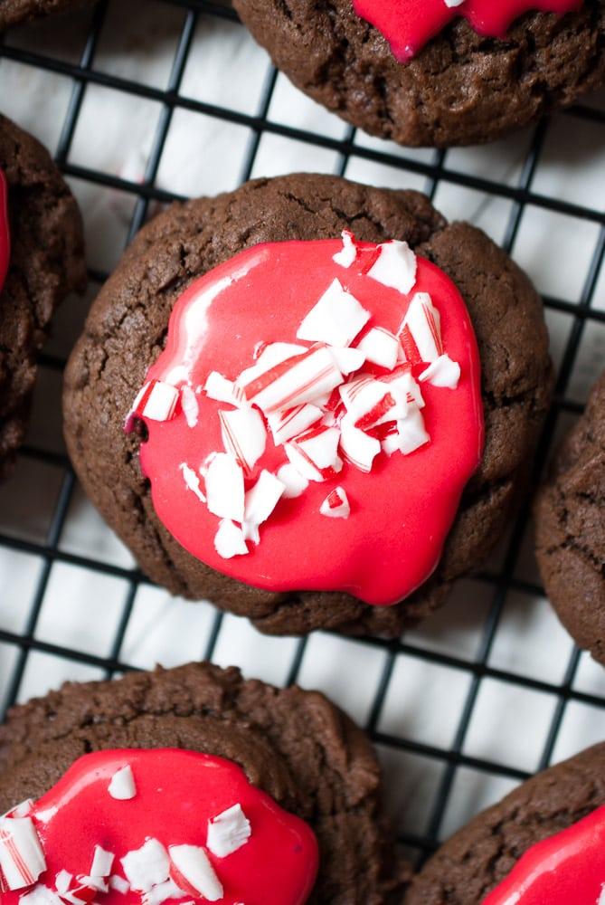 Chocolate Peppermint Cream Cookies
