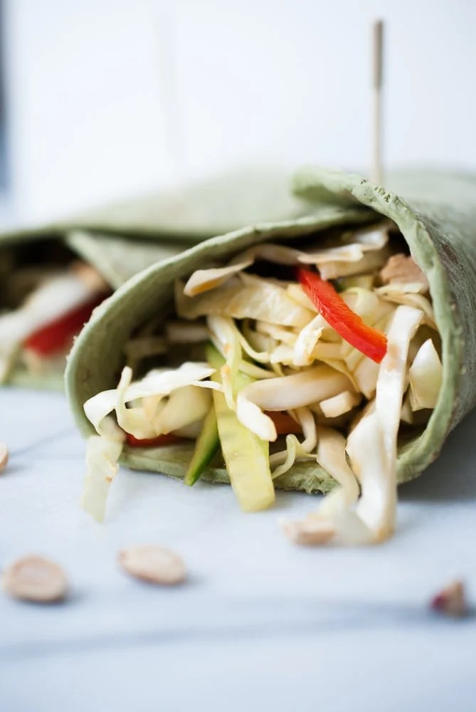 Soy Ginger Chicken Wraps