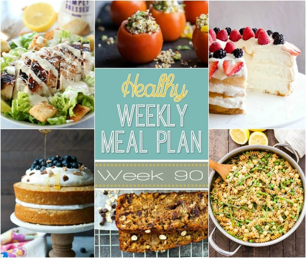 Healthy Weekly Meal Plan #90