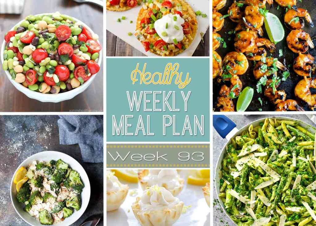 Healthy Weekly Meal Plan #93