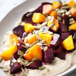 Roasted Beets & Hummus w/ Pumpkin Seeds