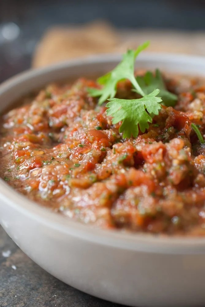 Smoky Poblano Pepper Salsa
