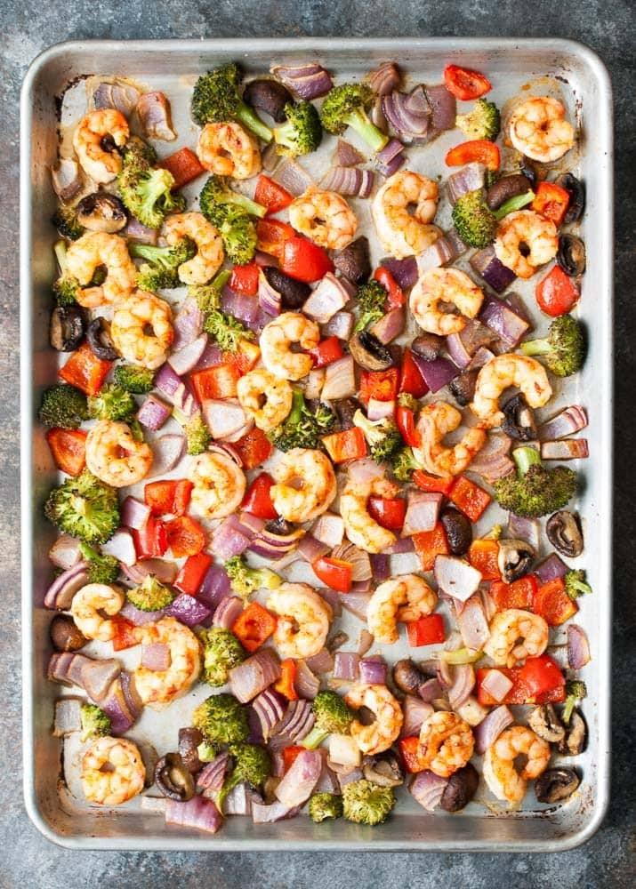 Sheet Pan Roasted Shrimp & Veggies