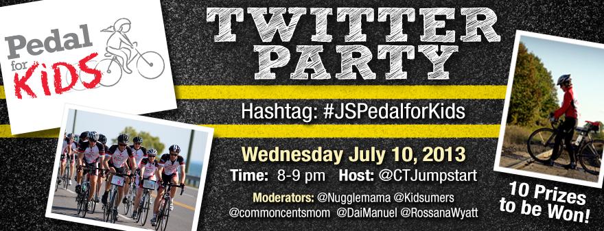 #JSPedalsForKids Twitter Party