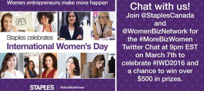 Passion and Purpose ~ #MoreBizWomen Twitter Chat with @StaplesCanada