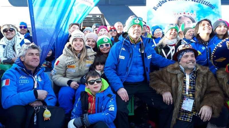 Marta Bassino con i suoi fans