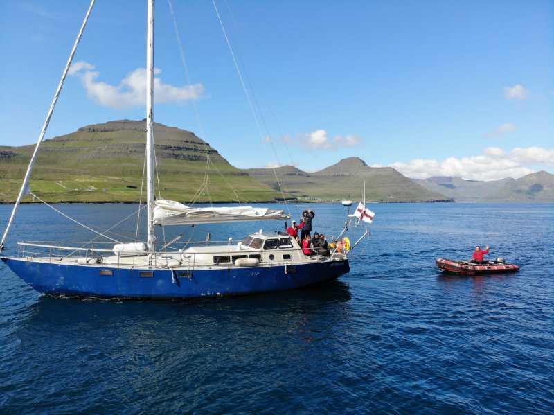 La nostra barca artigianale in acciaio, modello Bruce Roberts 44 offshore.