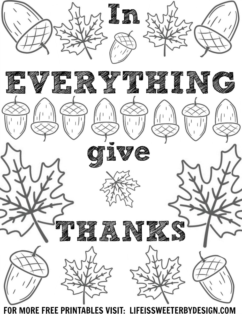 these free thanksgiving color pages are perfect for reflection this