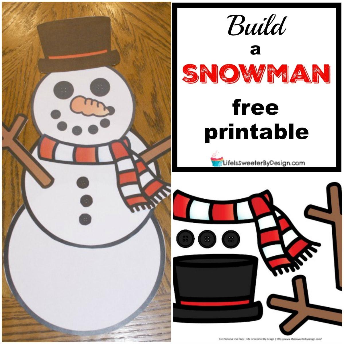 Free Printable Snowman Worksheet