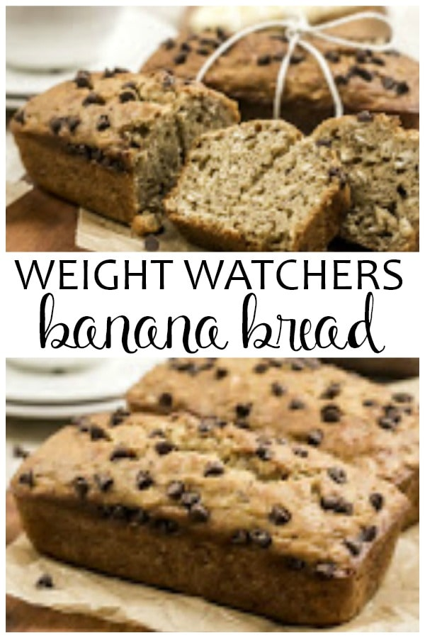 Weight Watchers Banana Bread is easy to make and only 5 or less Freestyle SmartPoints! This is a healthier banana bread recipe that uses applesauce! It is a great Weight Watchers dessert recipe.