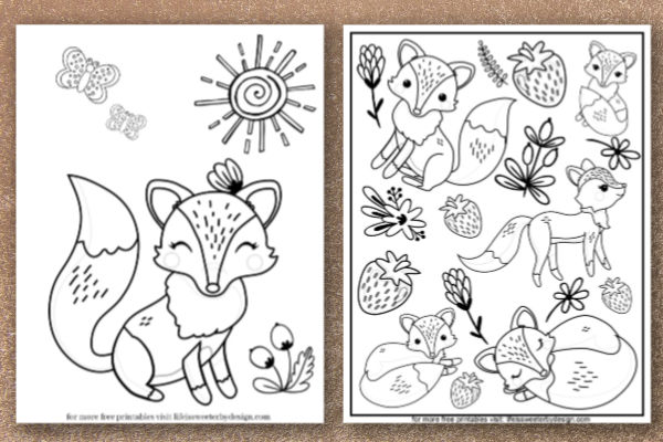 Fox Coloring Pages Life Is Sweeter By Design