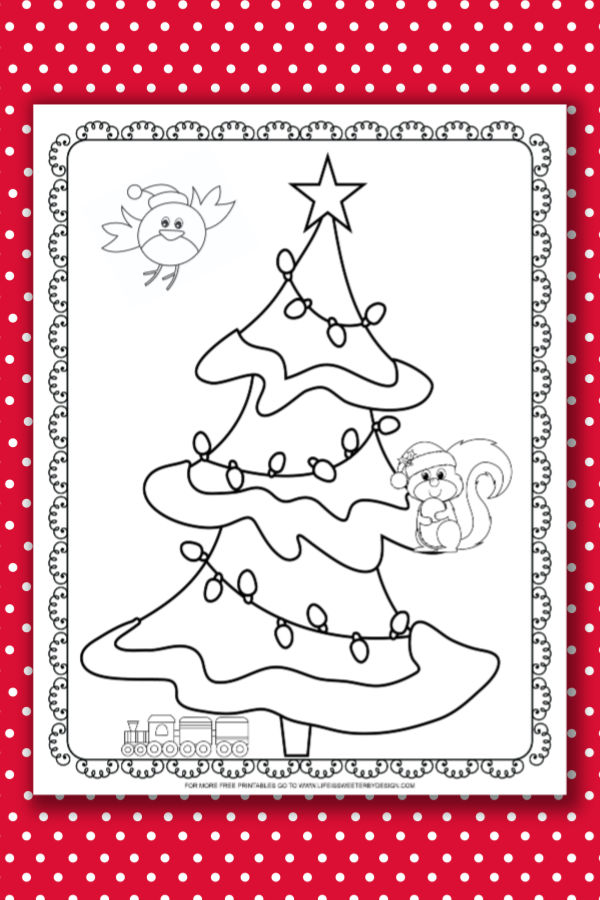 Christmas Tree Coloring Pages Life Is Sweeter By Design
