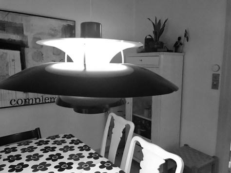 I stuen bruges Hue Tap til lyset