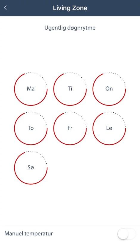 Danfoss Living Døgnrytme App