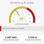 Dong Energy App. Mit elforbrug ift. andre familier.