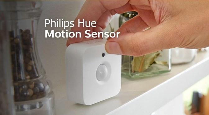 Philips Hue har en bevægelses-sensor som kan tænde lyset