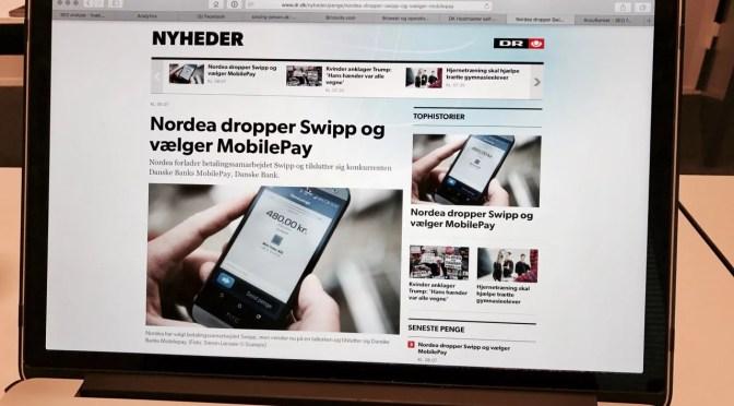 Mobilbetalingen Swipp er død. Nordea skifter hest…