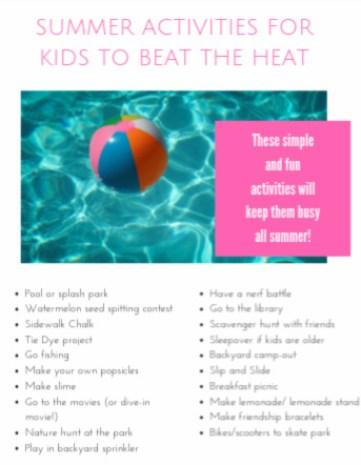 Kids' Summer Activities to Beat the Heat - Life Laura Loves