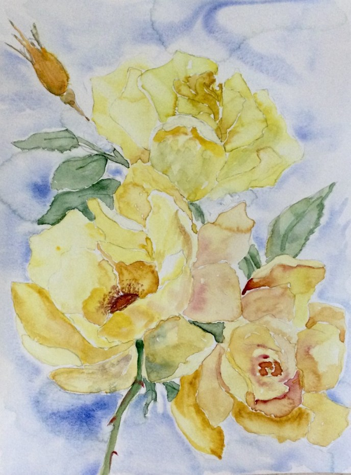 Roses (watercolor, 9x12) - NFS