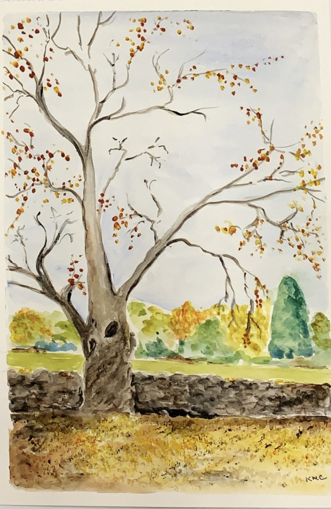 Autumn Scene (watercolor, 11x14) - NFS