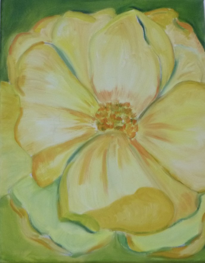 Summer Rose (oil on canvas, 11x14) - $250