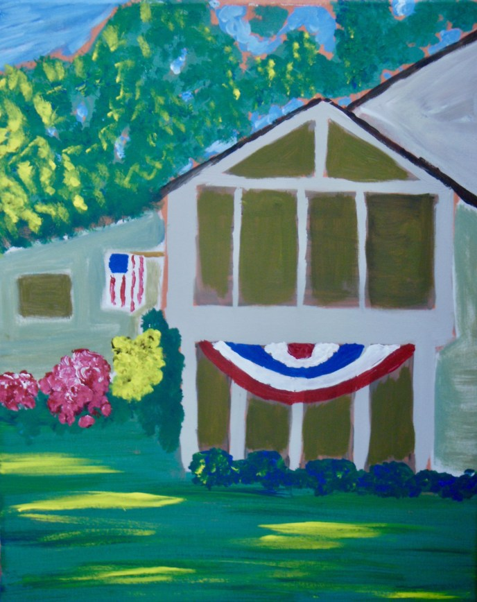 """Fourth of July"" (acrylic), NFS"