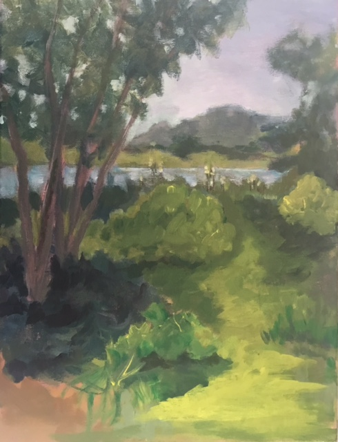 """A Glimpse of the River"" (pastel), NFS"