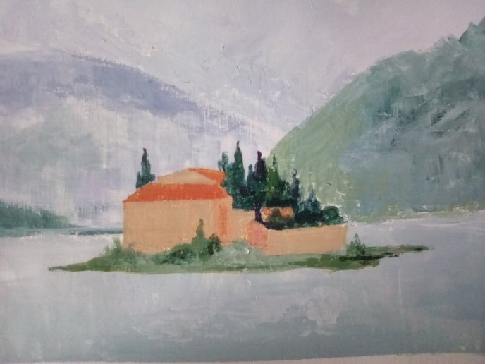 Lake Isle (acrylic, 10x14) - NFS