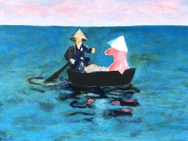 "Kathy Webster ""Boat Ride"" (acrylic), Neg"