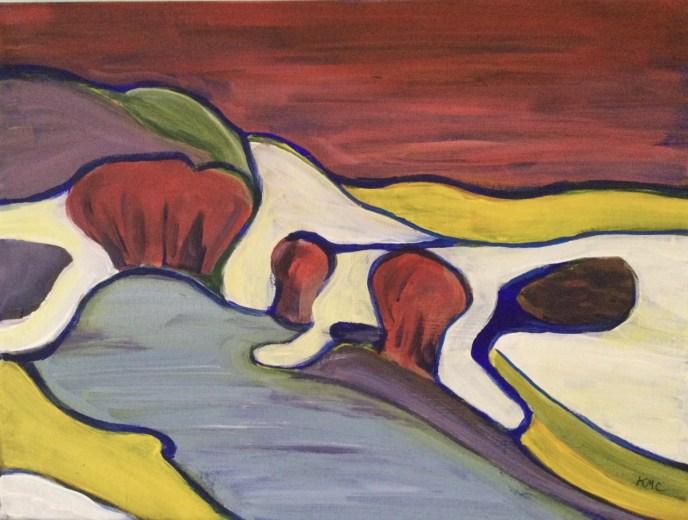 Yampa River (acrylic, 12x16) - NFS