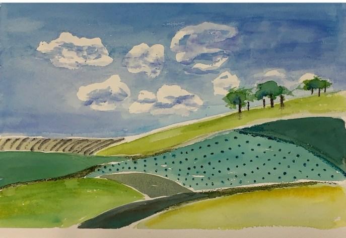 """Hillside 2"" (watercolor) - NFS"