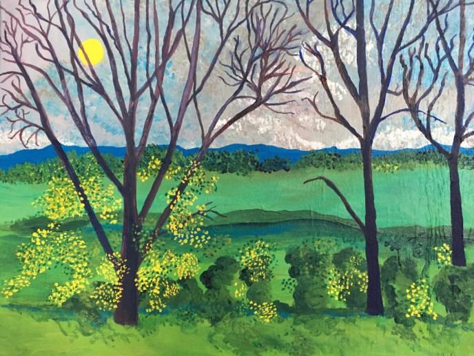 Homage to Hockney (acrylic, 16x20) - Price Negotiable