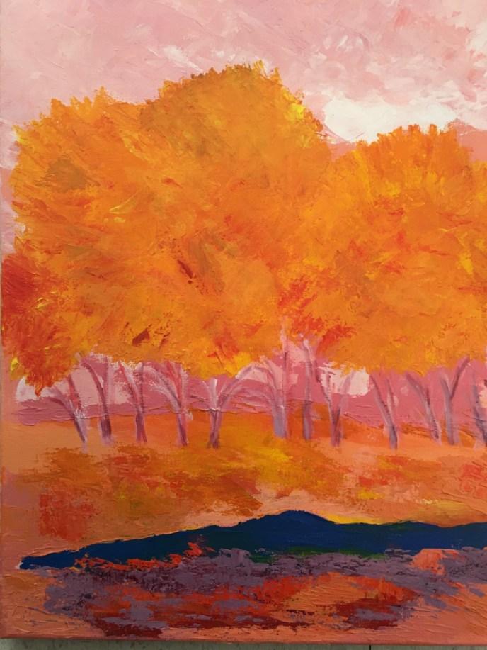 Orange Trees 1 (acrylic, 16x20) - Price Negotiable