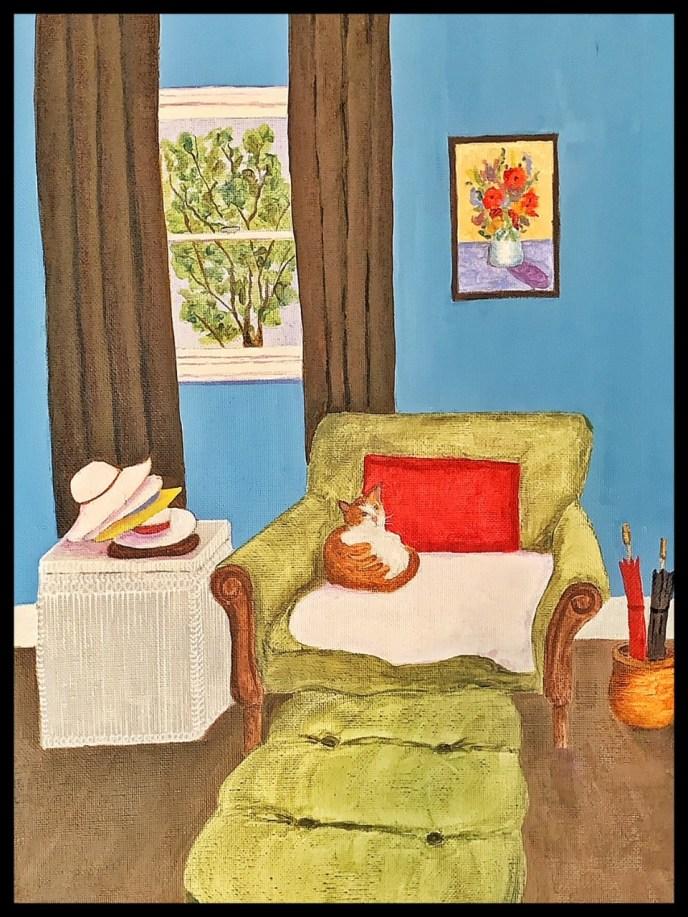 Oliver's Room (acrylic on canvas, 11x14) - NFS